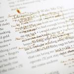Oberg genealogies interspersed with lyrics.