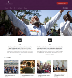 Prototype for Inspiration Travel Foundation webite was mostly a blocking of the color palette to see how well it reacted to ministry photos.